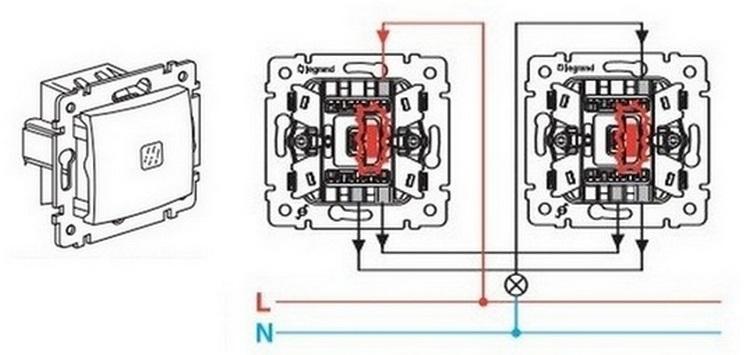 Схема подключения el-bi выключателя проходного выключателя