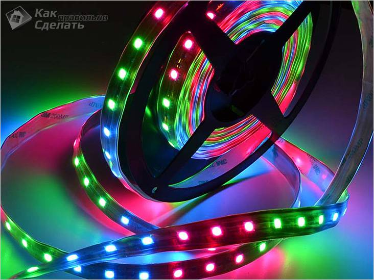 Schema Collegamento Neon In Serie : Lo schema di inclusione dei led nel nastro collegamento del