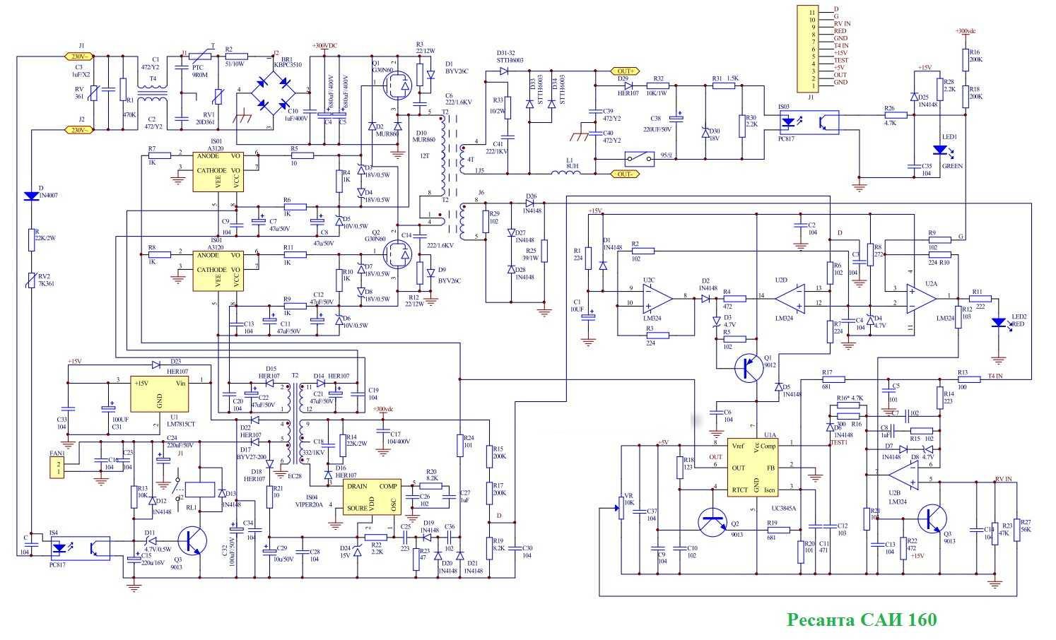 Схема сварочного аппарата ресанта 220 фото 8