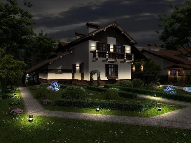 Illuminazione per esterni di edifici e territori controllo
